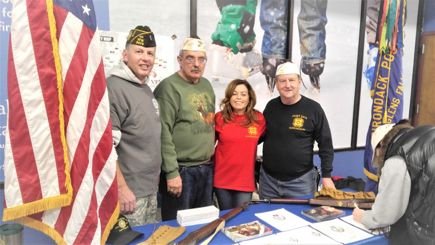 Left to Right: S.Jones, C. Fosco, T. Jones, M. Hoag (Post Commander)